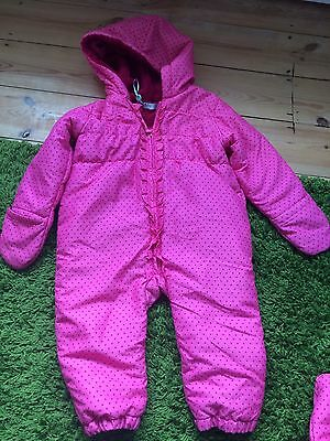 Lovely Girls Snowsuit M&Co 18-24 Months Pink / Pramsuit