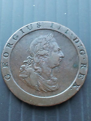 1797 One Penny Coin George 111 (United Kingdom)