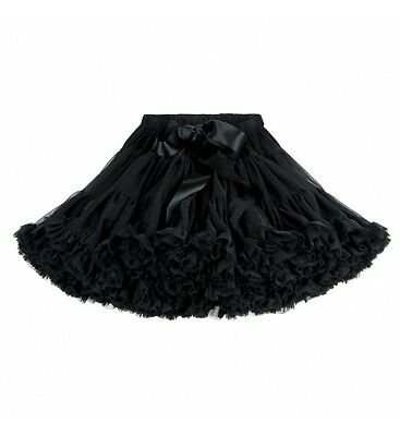 Stunning Jet Black Tutu From Angle Face Age 6-8 RRP £54.00 Excellent Condition