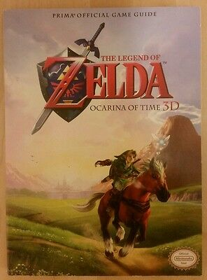3DS The Legend Of ZELDA Ocarina Of Time 3D Official GAME GUIDE + Poster