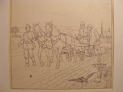 Post WW1 Pen and Ink Drawing - A New Beginning in Germany