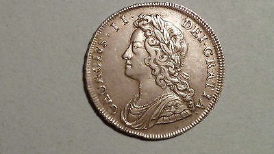 1731 Half-Crown.George 11 - Early British Milled Silver.High Grade.BIG REDUCTION