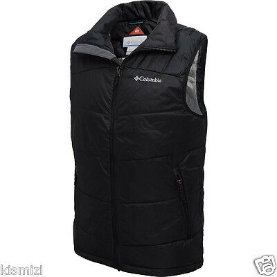 "New Mens Columbia ""Shimmer Me Timbers"" Omni-Heat / Shield Insulated Vest S-M"