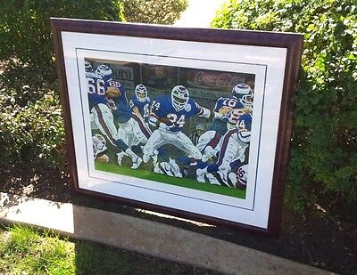 Super Bowl XXV New York Giants Limited Edition Signed Rick Rush Serigraph Print