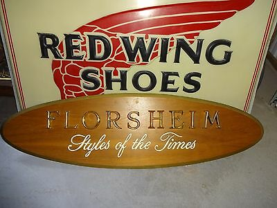 """Vintage Wood Advertising Shoe Store Sign  59-3/4"""" X 17"""" X 2"""""""