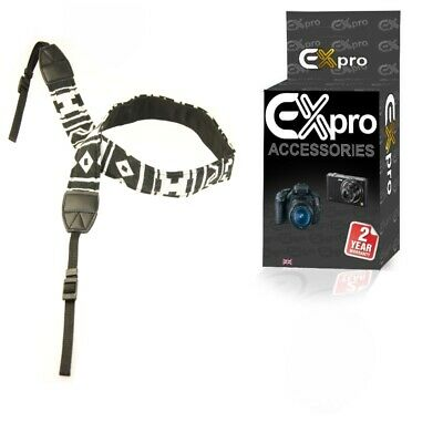 Vintage SLR DSLR Camera Shoulder Neck Strap Belt for Canon Nikon Pentax Sony BW