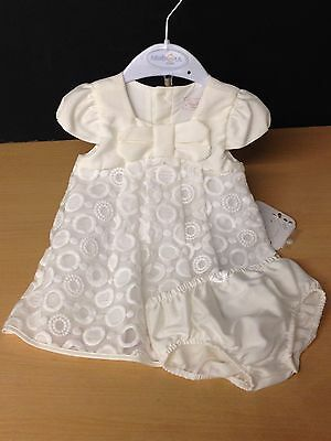 NEW MAYORAL Pretty Cream Baby Dress & Pants 4/6m - CLEARANCE PRICE
