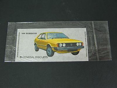 Very Rare Letraset General Biscuits Belgium Promotional Transfer - Vw Scirocco