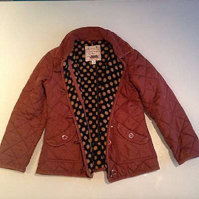 Girls Next rust brown riding quilted jacket age 9-10 years