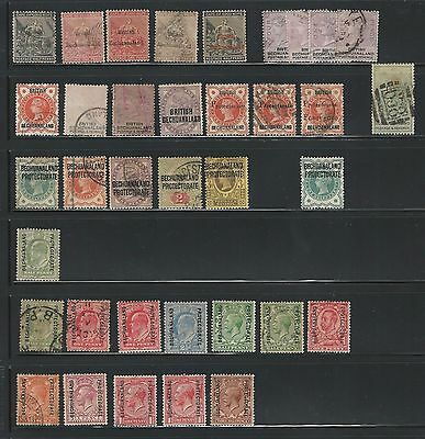 British Bechuanaland and Protectorate: little lot, rest of collection,... BE05