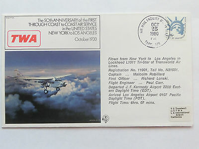 TWA Commemorative Cover Dated 1980