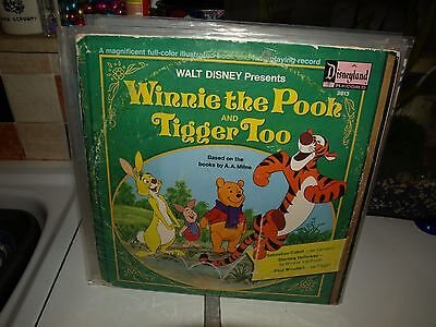 WINNIE THE POOH AND TIGGER TOO vinyl children's story recor