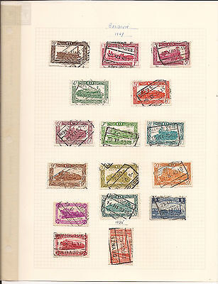 BELGIUM. 1940's & 50's. NINE SHEETS OF MINT AND USED STAMPS