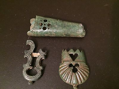 2 Dagger Chapes And 1 Sword Chape Roman To Medieval