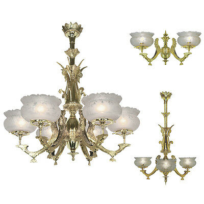 Aesthetic Victorian Greek Revival Series - Choice of Wall Sconce or Chandelier