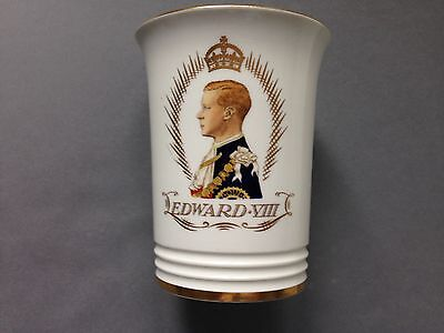 A top quality 1937 Minton Royal Commemorative Beaker for King Edward VIII