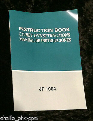 Janome Instruction Book Model Jf 1004