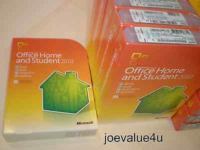 Microsoft Office Home and Student 2010 32/64-Bit - 3 Users - NEW GENUINE SEALED