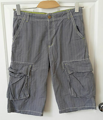 Mini Boden Boys Grey Cargo Shorts, Age 13