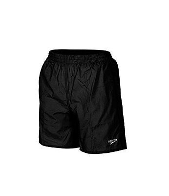 Speedo Boys Swimming Shorts Solid Leisure 15 inch Black Size XL Age 12-13 Years