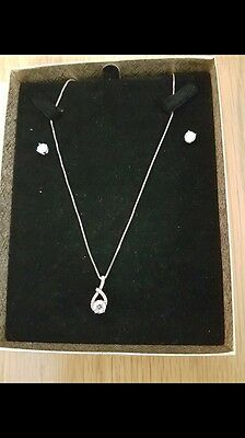 Diamanté Necklace And Earring Set In Presentation Bo