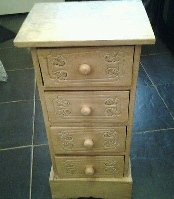 Small decorative 4 drawer cabinet shabby chic
