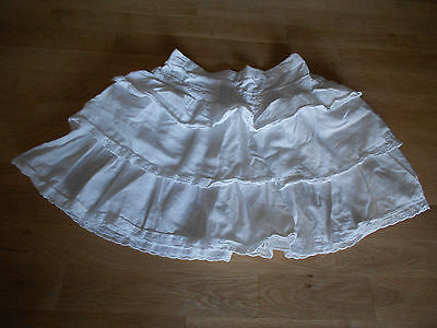 Girls, White, Ra Ra Style, Broderie Anglaise detail, Skirt, Age 6-7 years