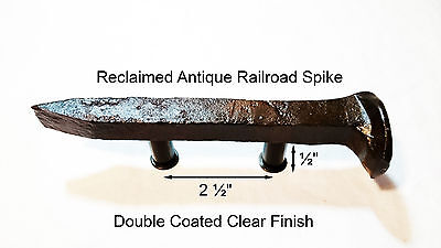 "2-1/2"" Right Sealed Railroad Spike Dresser Drawer Cabinet Handle Antique Vintage"