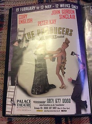 An Original Theatre Poster 40x30cm The Producers (Unknown Year) In Manchester.