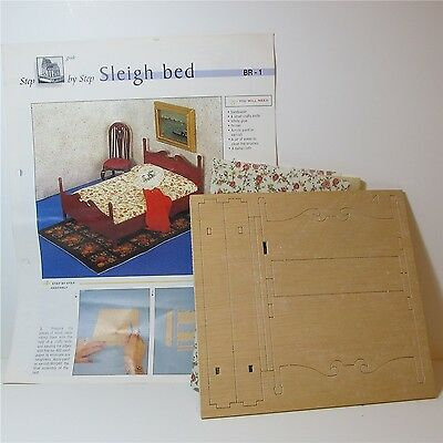 Dolls house miniature kit to make a 12th scale bed.