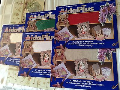 FREE POSTAGE Aida plus 14ct non fray fabric great xmas ornaments & bookmarks