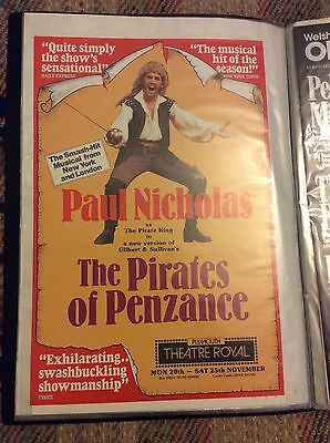 An Original Theatre Poster 40x30cm Pirates Of Penzance In Plymouth