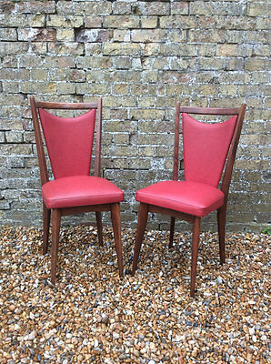 Pair of 1960's Italian Melchiorre Bega designer dining chairs
