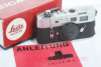 Leica M5 silber silver OVP in orig. box top condition