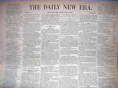 The Daily New Era (Lancaster PA) newspapers, May 3 & 4, 1877