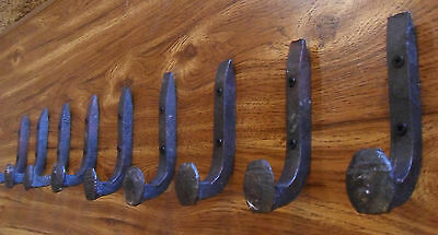 8 Antique Horse Tack Hooks Old Railroad Spikes Heavy Duty Stable Set Barn Hanger