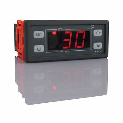 AC / DC-12V Digital LCD Thermostat sensor Temperature regulator with -40℃~99℃