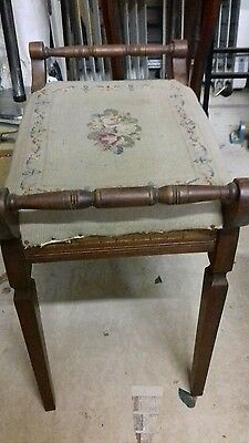 old upholsted stool