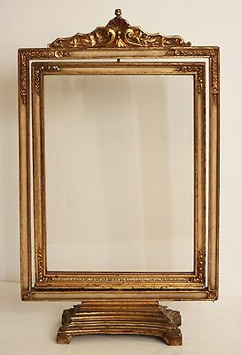 Antique Hand Carved Gold Gilt Frame-Double Sided-c.1910-1920