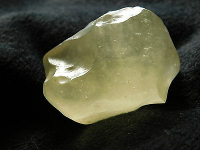 A Larger! Natural Semi Translucent Libyan Desert Glass Found in Egypt 24.2gr e
