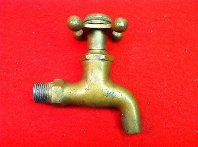 Lot A Antique Vintage Solid Brass Self Closing CF Cold Fresh Water Faucet Beauty