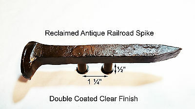 "1-1/4"" Left Sealed Railroad Spike Dresser Drawer Cabinet Handle Antique Vintage"