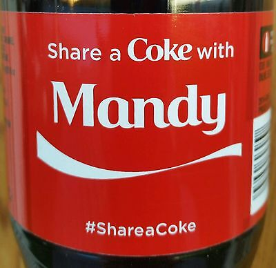 Summer 2015 Share A Coke With Mandy Personalized Coca Cola Collectible Bottle