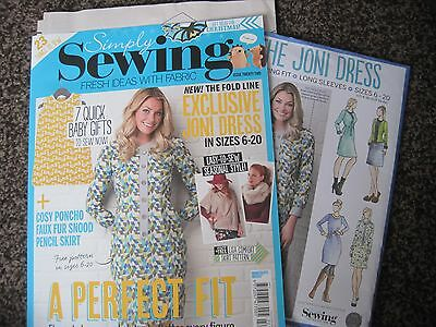 SIMPLY SEWING magazine with free gifts.Issue 22 Latest issue