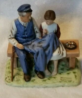 """Vintage Norman Rockwell Museum Figurine """"The Lighthouse Keepers Daughter"""" 1979"""