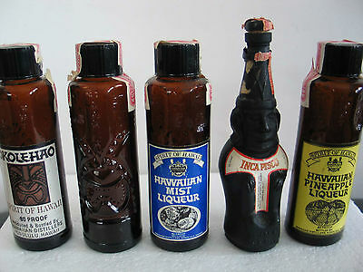 Lot of Five Small Individual Drink Bottles (Empty)