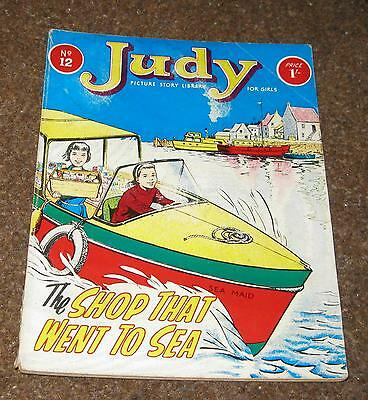 Judy Picture Library No 12 –The Shop That Went To Sea (Apr 64) Like Mandy & Judy