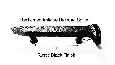 "4"" Right Black Railroad Spike Dresser Drawer Cabinet Handle Antique Vintage"