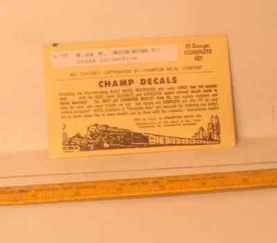 Discontinued  O Scale Champ Decals, National Of Mexico  Steam Free Shipping