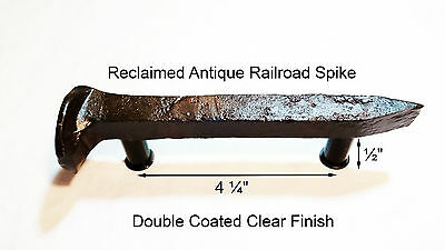 "4-1/4"" Left Sealed Railroad Spike Dresser Drawer Cabinet Handle Antique Vintage"